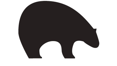 logo only black bear